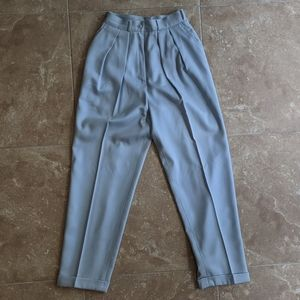 VTG Calvin Klein Baby Blue Pleated Pants Size 8